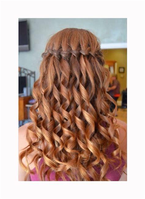 waterfall braid hair hair prom hair long hair styles