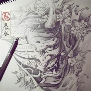 Demon Japonais Dessin : les 25 meilleures id es de la cat gorie tatouage masque oni sur pinterest tatouage oni ~ Maxctalentgroup.com Avis de Voitures