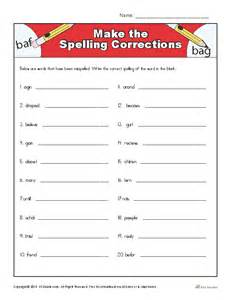 make worksheets free make the spelling corrections correcting proofing and editing