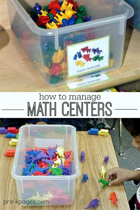 how to manage math centers 143 | math centers in preschool