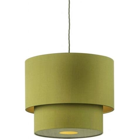 two tier l shade two tier green silk pendant light shade on braided cord cable