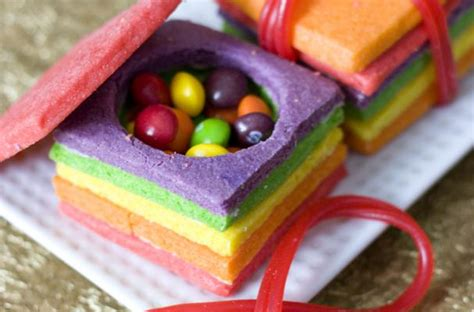 foodista colorful sugar cookie boxes hold  sweet surprise