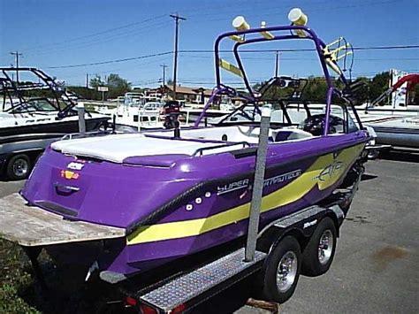 Purple Bass Boat by Wakeboarder Purple Boat