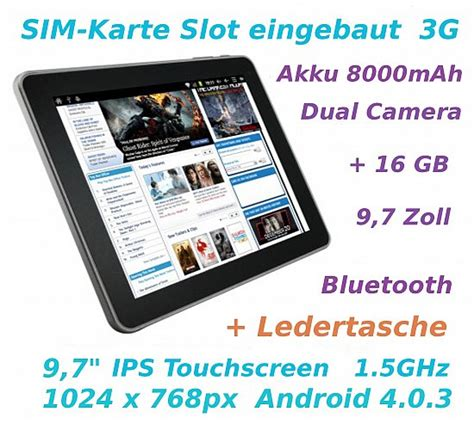 zoll tablet pc superpad sim karte slot  android