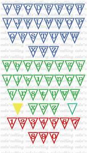 alphabet banner svg triangle banner svg party banner svg With triangle letter banner