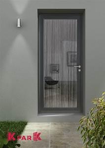 Porte Vitrée Pvc : porte d 39 entr pvc vitr e gamme de cr ateur mod le rideau ~ Melissatoandfro.com Idées de Décoration