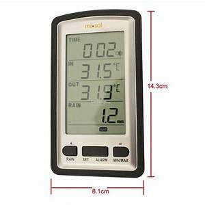 Wireless Rain Gauge Meter Thermomete  End 7  24  2020 1 15 Pm