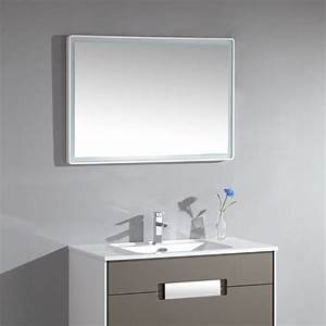 miroir salle de bain led angles ronds et bords finition With miroir salle de bain led 80 cm