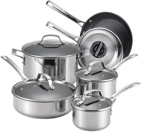 cookware glass stove steel stainless circulon genesis nonstick