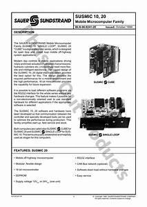Danfoss Susmic10  20 Mobile Microcomputer Family User Guide