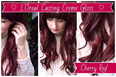 Cherry Red Hair Dye, L'oreal Casting Creme Gloss