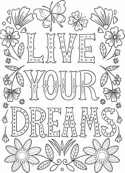 Coloring Yourself Adult Printable Express Quote Sheets