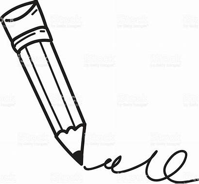Pencil Clipart Drawing Sketch Sketching Line Vector