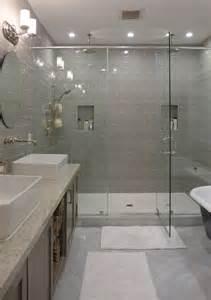 contemporary master bathroom with shower daltile rittenhouse square matte desert gray 3 in