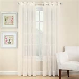 voile sheer grommet window curtain panel bed bath beyond