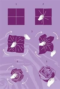 Comment Faire Des Roses En Papier : pliage de serviette la rose blog jour de f te ~ Melissatoandfro.com Idées de Décoration