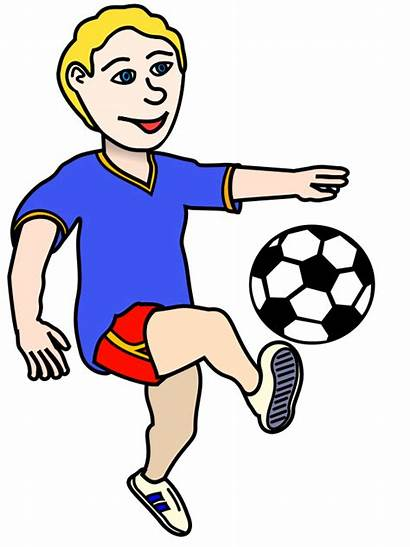 Clipart Soccer Football Playing Boy Player Locomotor