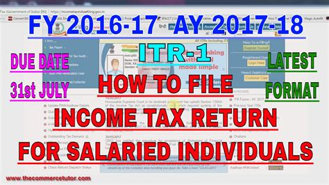 Income Tax Form For Salaried Employee by How To File Income Tax Return Online For Salaried