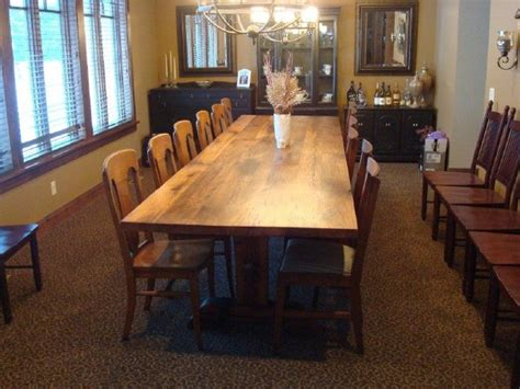 12foot Reclaimed Wood Trestle Table, Red Oak By Antique