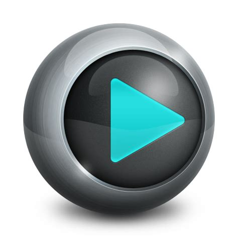 3d play button png divx icon media player iconset alex