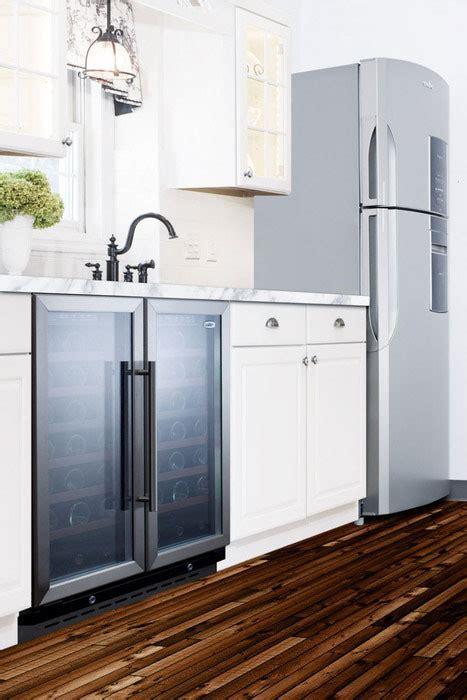 customized kitchen cabinets summit swc3066 30 inch undercounter dual zone wine cellar 3066