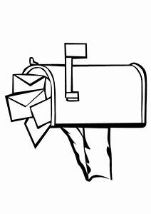 Mail Coloring Coloring Pages