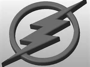 Black and White Flash Logo