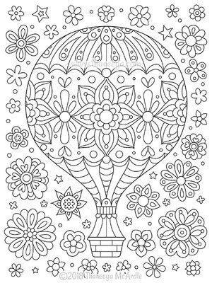 air balloon coloring page  thaneeya mcardle mandala coloring pages coloring books coloring