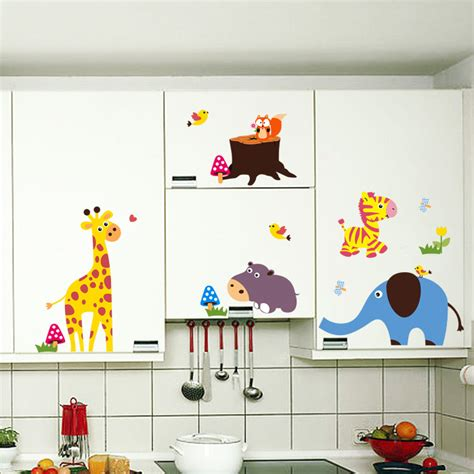 childrens bedroom wall stickers removable squirrel park home accessories elephant nursery