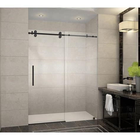 frameless sliding shower door aston langham 60 in x 75 in frameless sliding shower