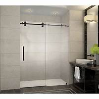 frameless shower door Aston Langham 60 in. x 75 in. Frameless Sliding Shower ...