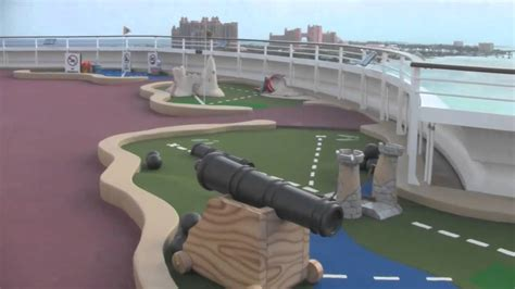 disney dream cruise ship goofy golf mini golf  youtube
