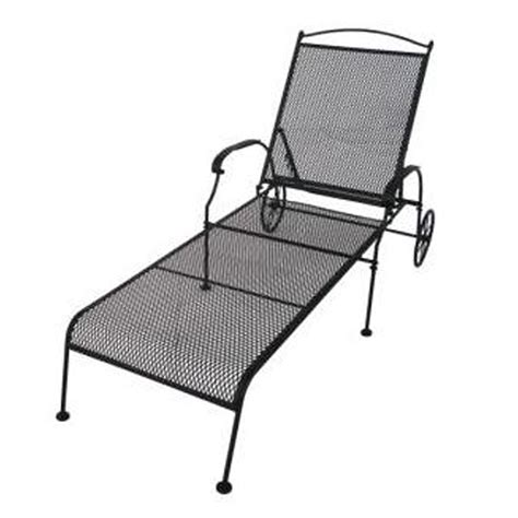 mesh chaise lounge chairs shop garden treasures hanover mesh seat wrought iron patio