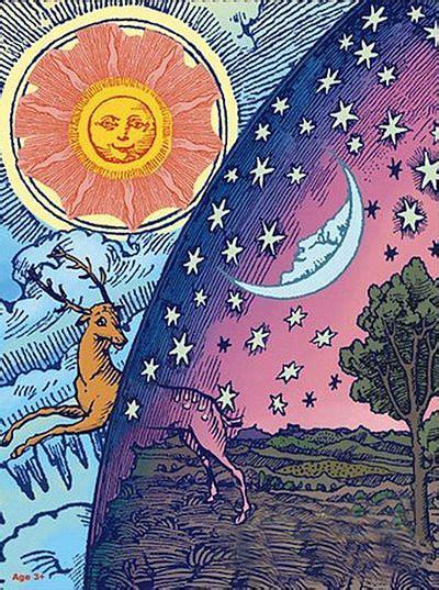 Pin by Renata Andrade on Ink | Hippie art, Moon art, Night art