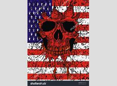 American Flag Skull Stock Vector 96342422 Shutterstock