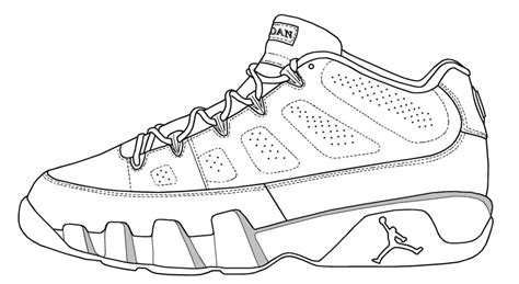 Coloring Jordans by Air 12 Drawing Sketch Coloring Page