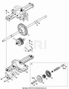 Mtd 13ax90yt001  2010  Parts Diagram For Transmission