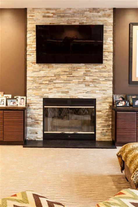 Split Rock Fireplace Full Wall   West Orange, NJ