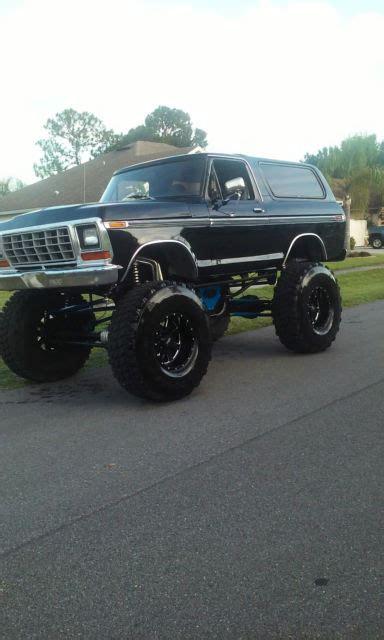 custom lifted black ford bronco classic ford bronco