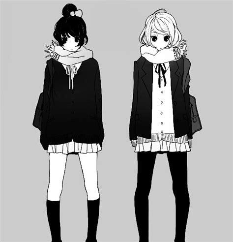 Anime fashion   anime anime girl black and white fashion - inspiring picture on ...   Anime ...