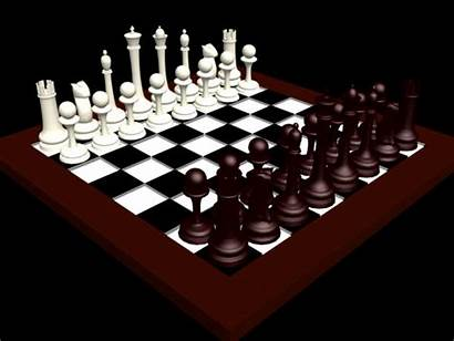 3d Chess Checkers Board Studio Max Figures