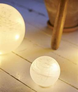 Lampe A Poser Sans Fil : boule led blanche 5l ~ Teatrodelosmanantiales.com Idées de Décoration