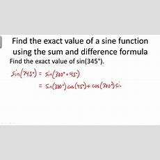 Sum Difference Formula  Driverlayer Search Engine