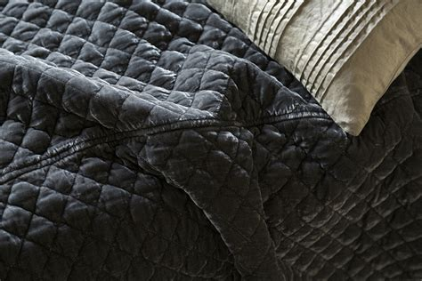 Silk Velvet Quilted Coverlet By Bella Notte