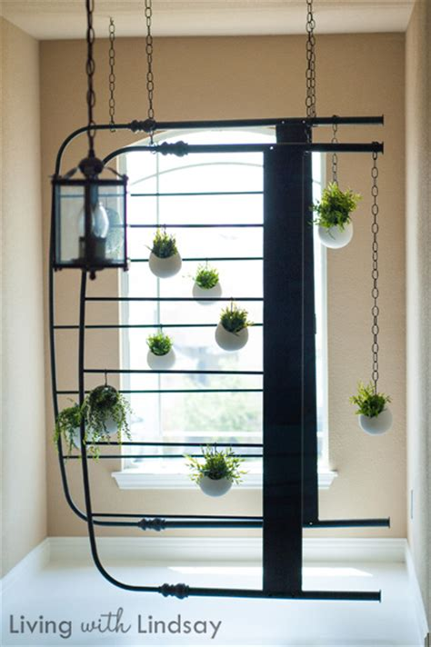 hanging chain ls ikea diy hanging bed frame faux planter makely school for
