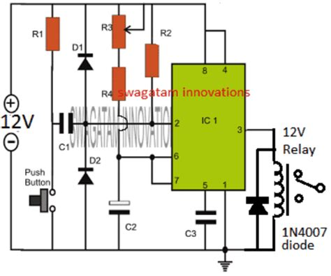 Simple Adjustable Timer Circuit With Relay