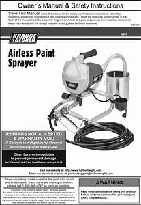 Manual For The 62915 Airless Paint Sprayer Kit