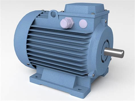 Induction Electric Motor by Induction Electric Motor 3d Model