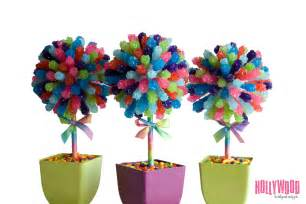 Rainbow Rock Candy Centerpiece Topiary Tree Candy Buffet