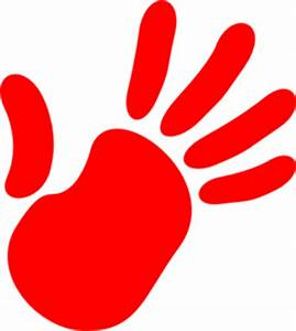 Red Hand Print Clip Art | Clipart Panda - Free Clipart Images